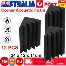 12x Studio Acoustic Foam Corner Bass Trap Sound Absorption Treatment Proofing AU
