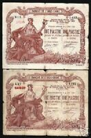 FRENCH INDO CHINA 1 PIASTRE P-34 1909 SAIGON CURRENCY VIETNAM BILL BANK NOTE
