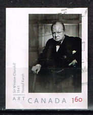 Canada Winston Churchill stamp 2009 imperforated