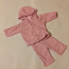 Baby Girls Size Newborn Mothercare Pink Floral Hoodie Top And Bottoms Outfit