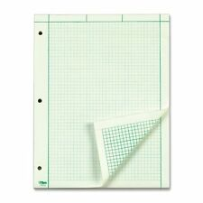 TOPS Engineering Computation Pad, Quad Rule, Letter Size, Green Tint, 100 Sheets