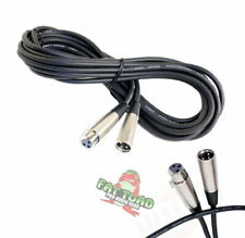 XLR Microphone Cable 20FT - FAT TOAD Mic Cord Female Male 3 Pin Recording Wire