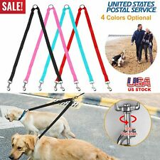 Dual Double Dog Leash Walking No Tangle Metal Coupler For 2 Pet Dogs Comfortable
