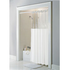 "Anti-Bacterial Vinyl ""Window"" Shower Curtain: Rust Proof Grommets10-Gauge Vinyl"