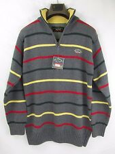 Paul&Shark Yachting Authentic Cotton Men's striped long sleeve Sweater Sz L 52