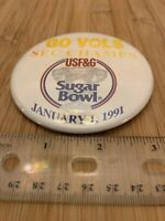 University Of Tennessee Vols Sugar Bowl 1991 Football Pin Button FREE SHIPPING