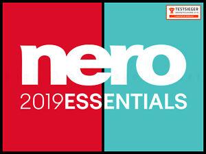 NERO 2019 ESSENTIALS ★ MEDIAHOME STANDARD ★ NERO EXPRESS ★ BURNING ROM CD DVD BD