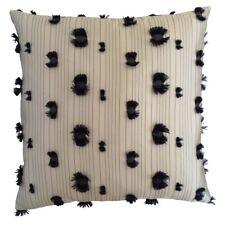 Satin Striped & Pom Pom/PomPom Cream Decorative/Throw Pillow Case/Cushion Cover