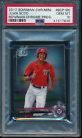 PSA 10 JUAN SOTO 2017 Bowman Chrome Mini Prospects Nats Rookie Card RC GEM MINT