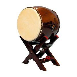 GENUINE Japanese drum TAIKO (Long torso no ear) 1.2 feet with X-pedestal Set