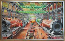 Vulcan Foundry 1935 Steam Locomotive Construction. Original Gouache E Prangnell