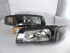 1996 - 2001 Mitsubishi Lancer EVO 4 Black Head Lights Corner Mirage Headlights