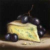 Stilton With Grapes Jane Palmer Art original Still Life oil painting Framed