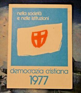 TESSERA DEMOCRAZIA CRISTIANA - 1977 -