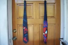 2 Ralph Marlin Ties SPIDERMAN II 1995 Superhero & SPIDERSENSE 1999 Marvel Comics