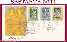 ITALIA FDC ROMA NATALE AGOSTINO DI DUCCIO 1973 ANNULLO ROMA G466