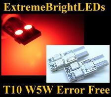 TWO Brilliant RED SMD Canbus Error Free LED Parking Lights #11B