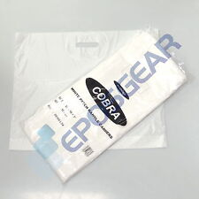 More details for 100 large strong heavy duty plain white patch punch handle shop carrier bags
