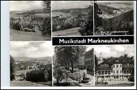 MARKNEUKIRCHEN Mehrbild-AK DDR ua. Musikinstrumente-Museum, Ernst-Thälmann-Platz