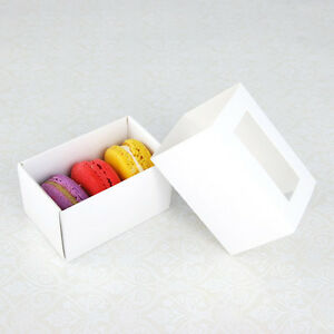 Macaron Box - for 3 Macarons - Pack of 25 sets