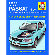 HAYNES MANUAL VW PASSAT 4-CYL DEC 96-NOV 2000 P TO X REG PETROL AND DIESEL
