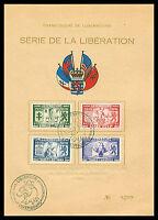 1945 Luxemburg im zweiten Weltkriege Nr: 343/46