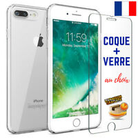 COQUE HOUSSE ETUI TPU GEL IPHONE 6 5 7 8 X + PROTECTION FILM VERRE TREMPE 9H