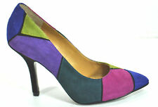 ine West Multi Color Pump 6.5M Leather Upper Heels BOOGIEDOWN Women's NEW