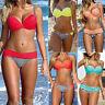 2017 Mujer Vendaje Push up Acolchado Bikini Sets Triángulo Bañador Moda de baño