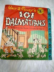 """1960 45 Vinyl 101 Dalmatians """"Cruella DeVille"""" Sandpipers Jimmy Carroll"""