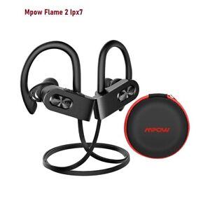 Genuine Mpow Flame 2 IPX7 Sport Wireless Waterproof Earphones Bluetooth 5.0 NEW