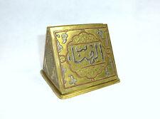 Zigarettenspender mit feiner Einlegearbeit Damaskus um 1900 Bronze Silber