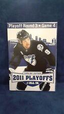 Tampa Bay Lightning 2011 Playoffs Program Round 3 Game 4 Boston Bruins