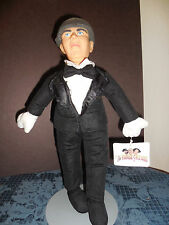 """14"""" PLAY-BY-PLAY THE 3 STOOGES *MOE* BLACK TUX AND BOWTIE WT 1999 EUC E9"""