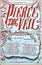 PIERCE THE VEIL Misadventures 2016 Ltd Ed RARE New Tour Poster +Free Punk Poster