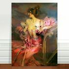 "Giovianni Boldini Lady in Pink Dress ~ FINE ART CANVAS PRINT 36x24"""