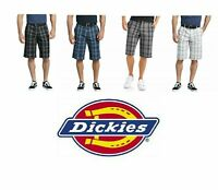"""Dickies Shorts 13"""" Mens Work Shorts Plaid Flex Relaxed Fit Multi Tech Pocket NEW"""