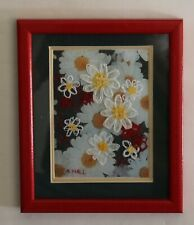 More details for floral collage and embroidered picture