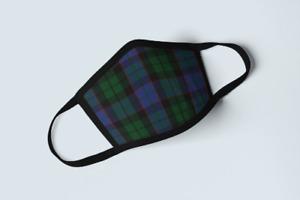 Clan Ferguson of Balquhidder Tartan Face Mask Scottish Plaid Covering Green Mask