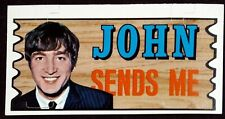 THE BEATLES / JOHN LENNON / 1964 TOPPS PLAK #23 / NEAR MINT