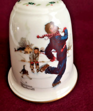 Norman Rockwell collectible bell- Gay Blades-1978 Gorham