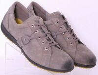 Ecco Gray Leather Distressed Lace-Up Fashion Sneaker Shoes Euro 42 Men's US 9