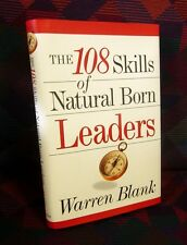 WARREN BLANK autograph book 108 Skills of Natural Born Leaders leadership signed