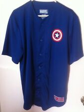 CAPTAIN AMERICA MARVEL BASEBALL JERSEY WITH NAME NUMBER SIZE LARGE NEW AVENGERS