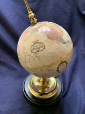 """Beautiful globe and stand. Perfect for a desk. 8"""" tall."""