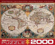 EUROGRAPHICS JIGSAW PUZZLE ANTIQUE WORLD MAP 2000 PCS #8220-1997