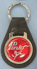 Vintage Red Ford PINTO Black Leather Keyring Key Fob 1971 1972 1973 1974 1975