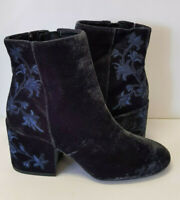 Kenneth Women's Cole Renna boots  -Velvet Velour  Embroidery- size 9US