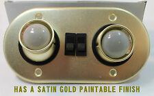 DUAL INTERIOR SWIVEL LIGHT KIT CAR REPLICAR GOLD PAINTABLE TRAILER RV TRUCK LED