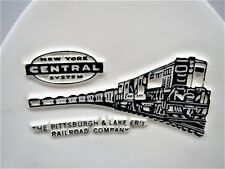 New York Central - Pittsburgh & Lake Erie Railroads Ceramic Ashtray - MINT